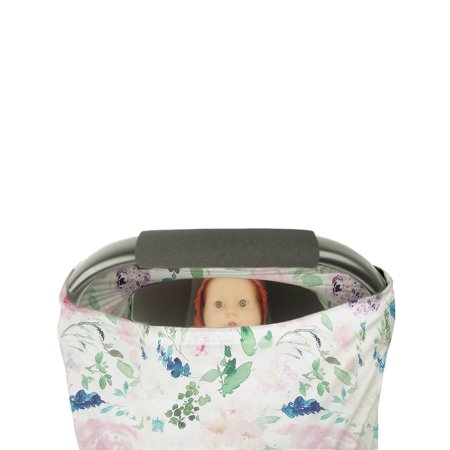 Infant Soft Heart Feather Floral Printed Nursing Car Seat 1pcs - image 5 de 8