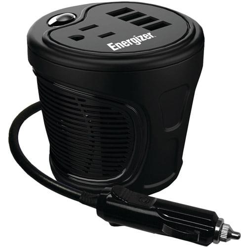 Energizer EN180 12-Volt Cup-Holder Power Inverter (180 Watts) by Energizer