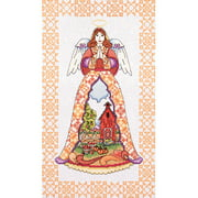 """Autumn Angel-Jim Shore Counted Cross Stitch Kit, 9"""" x 15"""", 14-Count"""