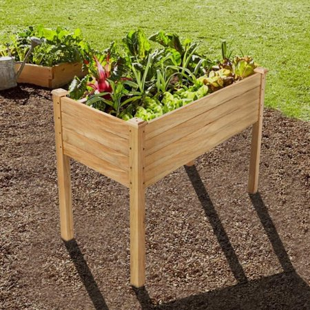 Zimtown Natural Wooden Raised Garden Bed (48.5