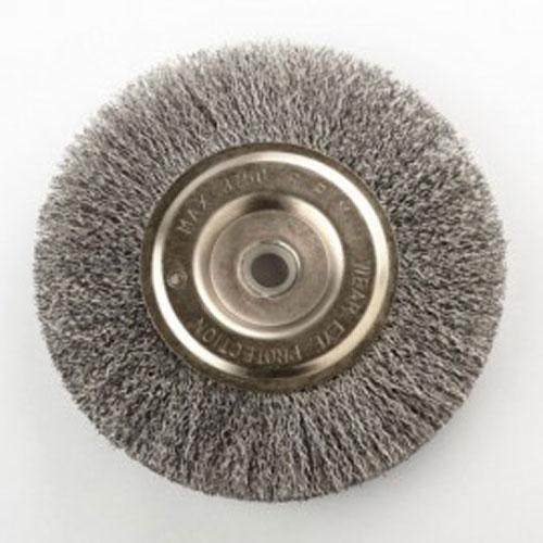 trunki Round Wire Wheel Brush 6 Inch For Bench Grinder Ru...