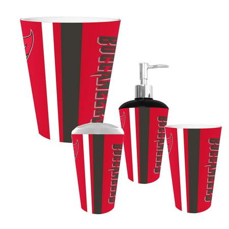Tampa bay buccaneers nfl complete bathroom accessories 4pc for Complete bathroom accessories sets