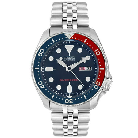 - Seiko Men's Automatic Stainless Steel Navy Blue Dial Diver Watch SKX009K2