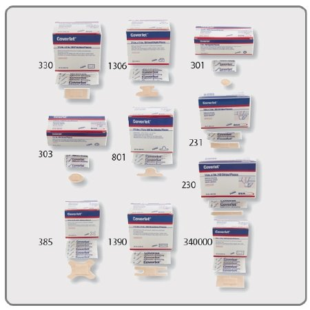 Adhesive Spot Bandage Coverlet® 0.875 Inch Diameter Fabric Round Tan Sterile - Item Number 00301BX - 0.875