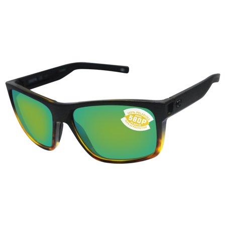 28b138d6f8e Costa Del Mar - Costa Del Mar slack tide matte black tortoise frame green  580P lens sunglasses - Walmart.com