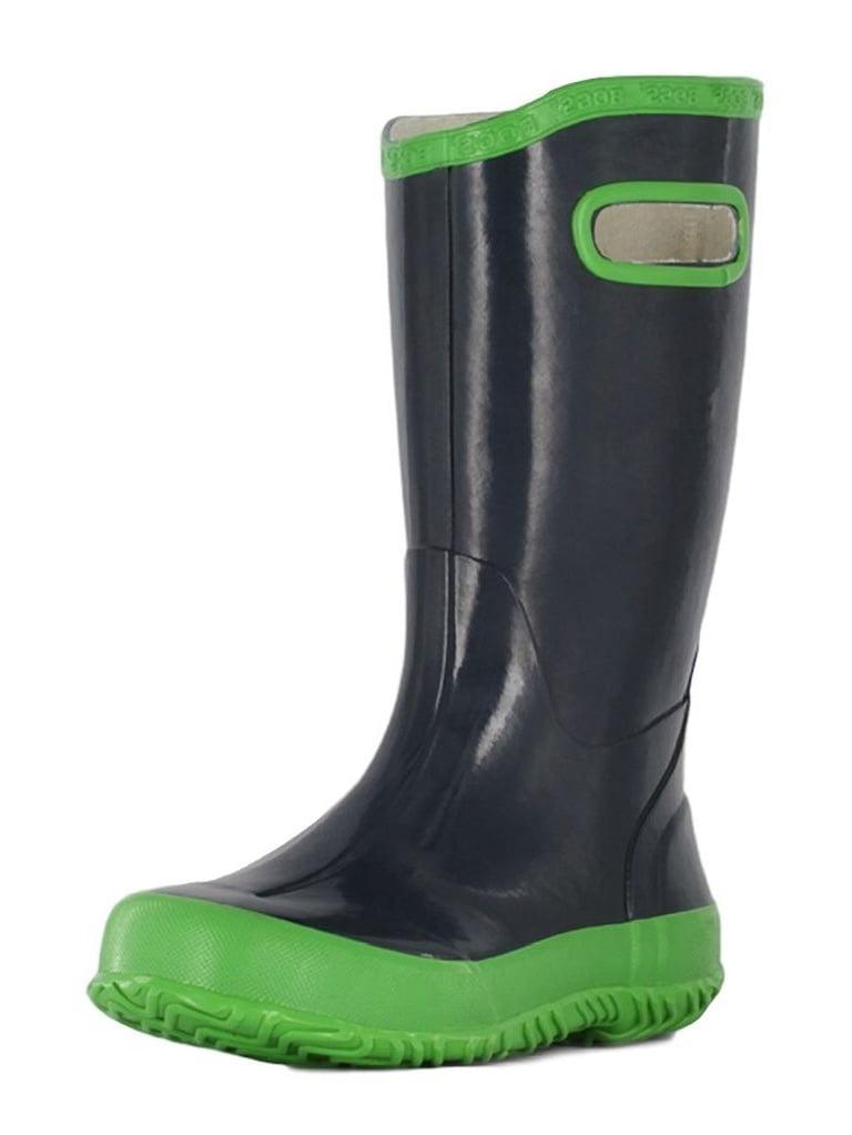 Bogs Boots Boys Kids Rainboot Solid Rubber Waterproof Navy 71326 by Bogs