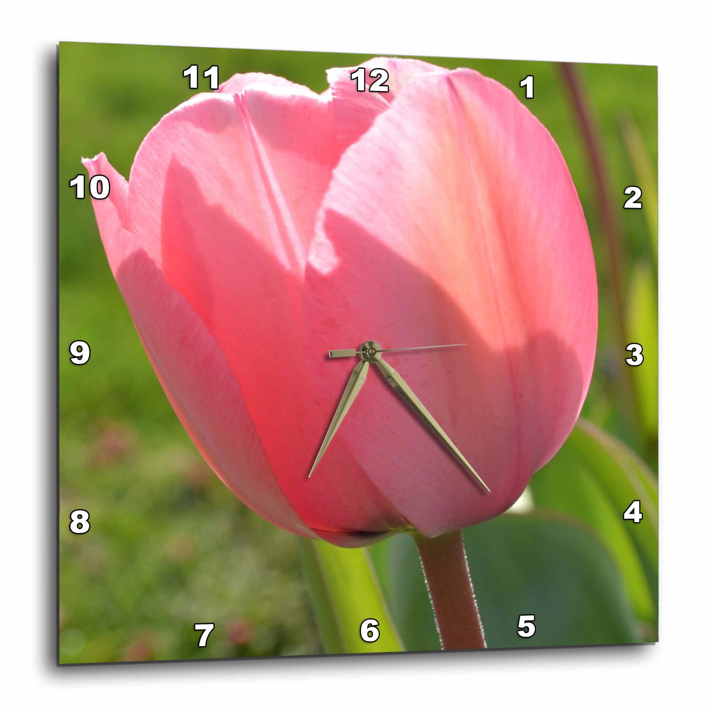 3drose Pink Tulip Ii Wall Clock 10 By 10 Inch Walmart Com Walmart Com