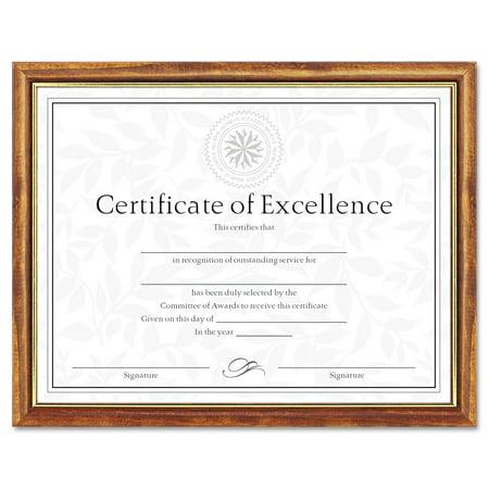 dax two tone documentdiploma frame wood 8 12 x - Diploma Frames Walmart