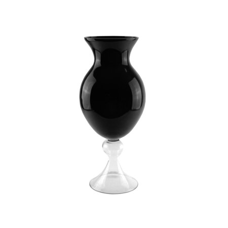Black Glass Button Flower (20