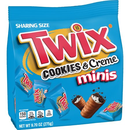 TWIX Minis Cookies and Crème Chocolate Candy Bars, 9.7- Ounce Bag