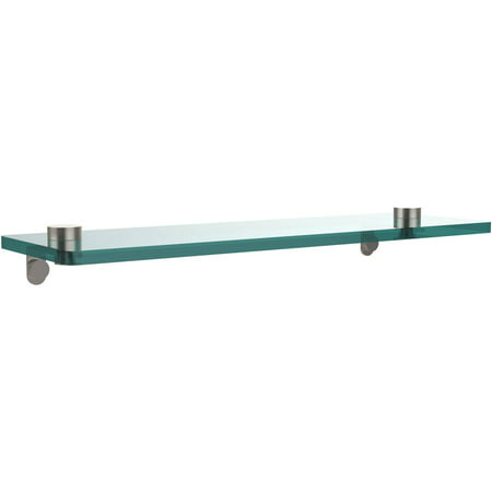 "16"" Glass Vanity Shelf with Beveled Edges (Build to Order)"