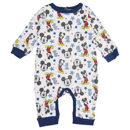65b4cdcc3 Disney Mickey Mouse Romper Bodysuit for Baby Boy - Walmart.com
