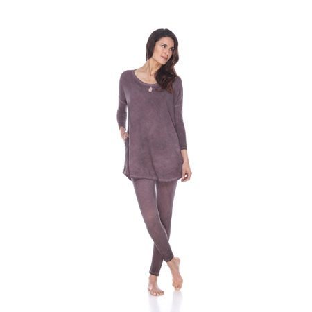 Rock Cotton - Rounded Bottom Tunic & Legging Set - Vintage Purple - (Stores In Round Rock Outlet)
