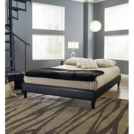 Premier Elite II Upholstered Faux Leather Platform Bed Frame with Bonus Base Wooden Slat System, Multiple Colors & -