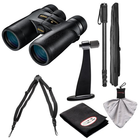 Nikon Monarch 7 8x42 ED ATB Waterproof/Fogproof Binoculars with Case + Harness + Tripod Adapter & Monopod + Kit