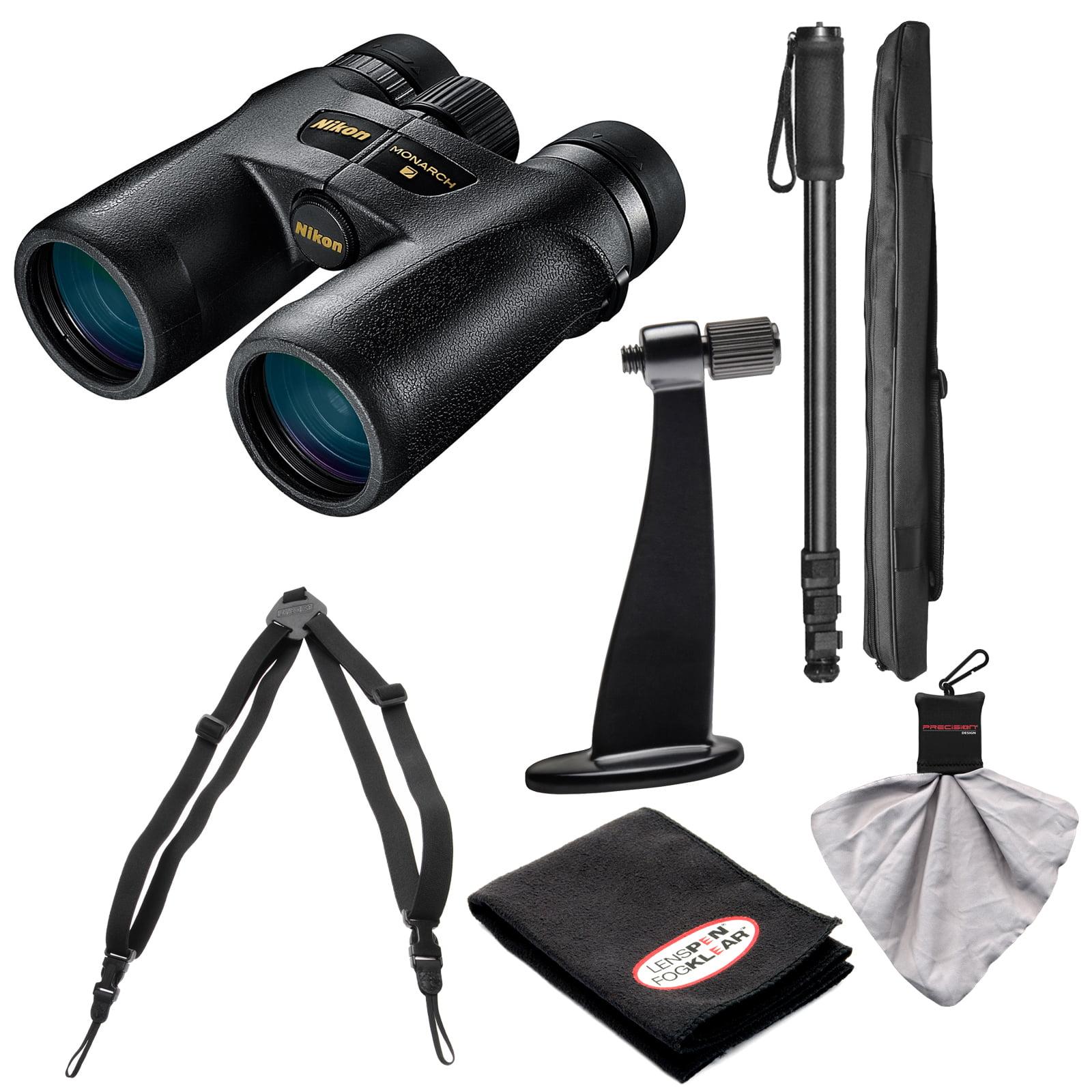 Nikon Monarch 7 8x42 ED ATB Waterproof/Fogproof Binoculars with Case + Harness + Tripod Adapter & Monopod + Kit