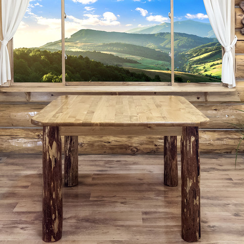 Montana Woodworks Glacier Country 4 Post Square Dining Table