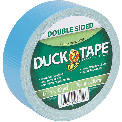 """Duck Brand Duct Tape, Double Sided Duck Tape, 1.41"""" x 12 yds"""
