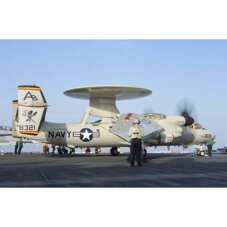 - An E-2D Advanced Hawkeye assigned to the Tigertails of Carrier Airborne Early Warning Squadron 125 Poster Print