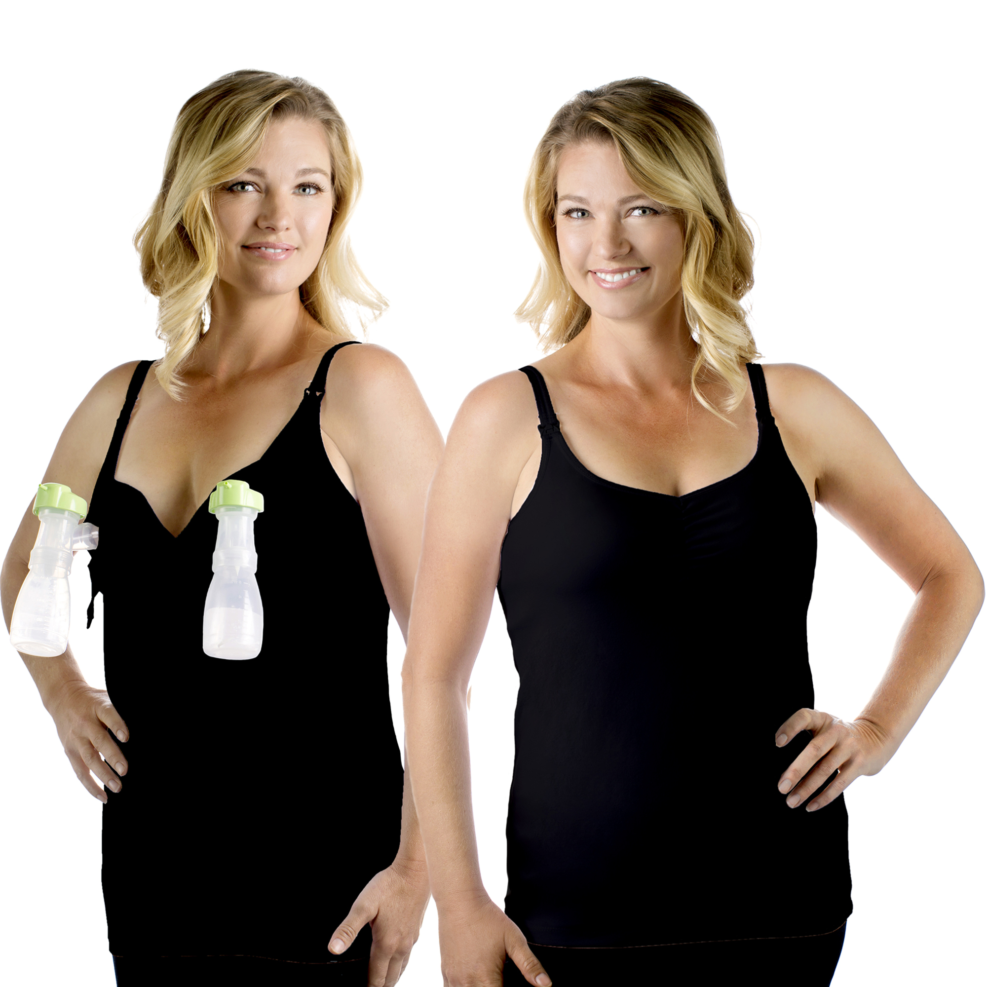 Rumina's Pump&Nurse Classic all-in-one Nursing Tank for maternity, nursing and built in hands-free pumping bra