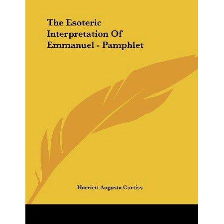 The Esoteric Interpretation of Emmanuel - image 1 de 1