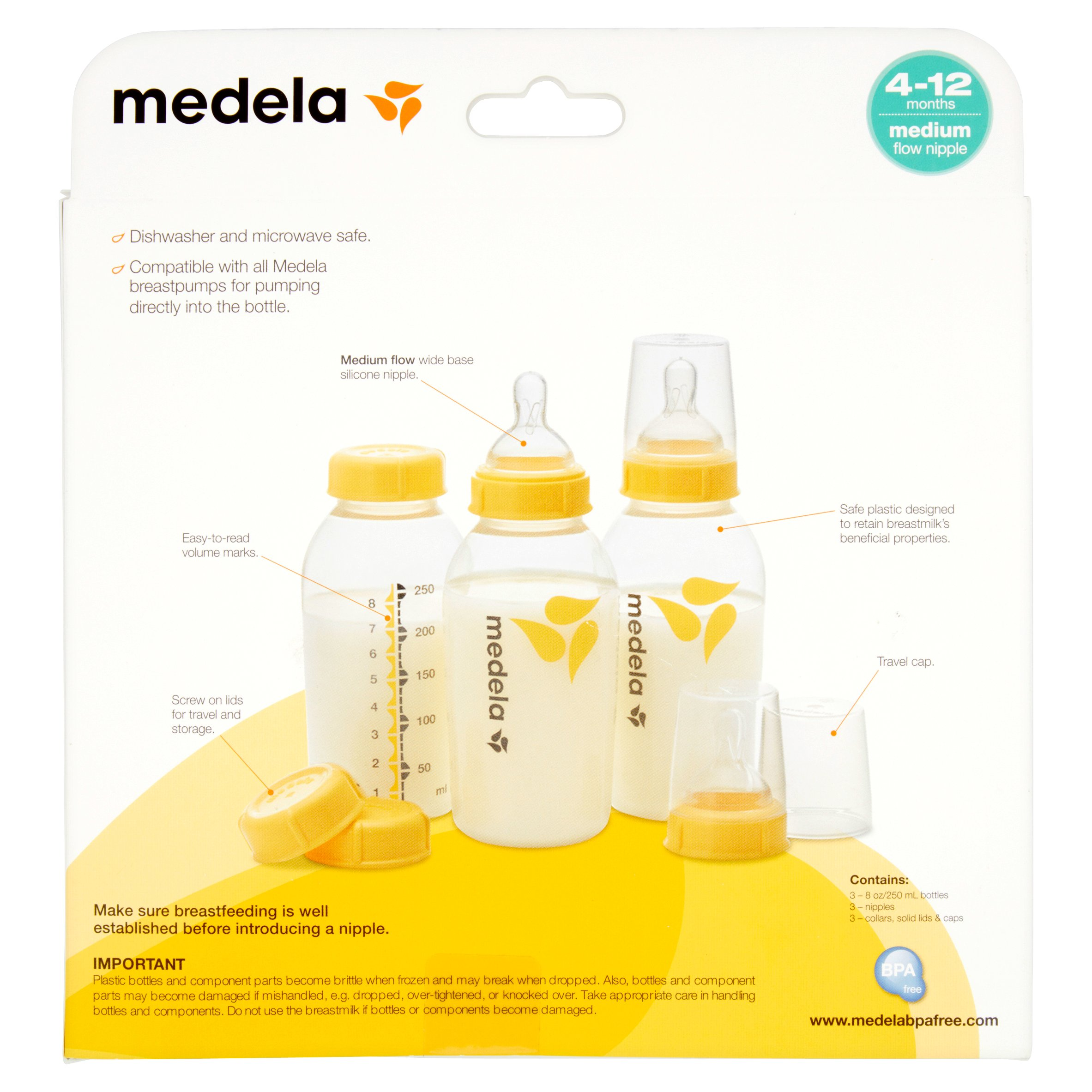 Medela 5 oz 2 Bottles Lids Nipples Caps Lot Baby Feeding Storage 8oz 17 Total