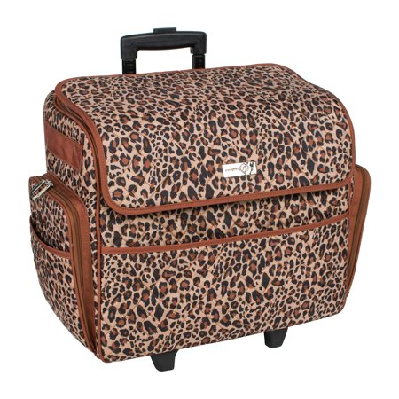 Everything Mary Deluxe Quilted Cheetah Print Rolling Sewing Machine Inspiration Everything Mary Sewing Machine Tote
