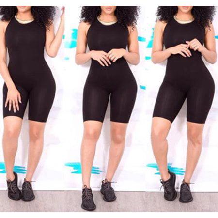 b27d95fd0013 Hirigin - Sexy Women Casual Sleeveless Bodycon Romper Jumpsuit Club  Bodysuit Short Pants - Walmart.com