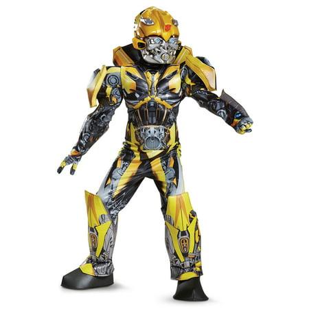 Boys Prestige Bumblebee Transformers Costume](Transformers Adult Costumes)