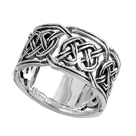 sterling silver men 39 s celtic knot ring sizes 8 9 10 11. Black Bedroom Furniture Sets. Home Design Ideas