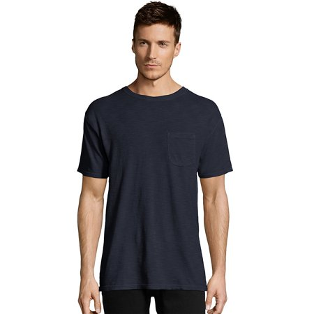 Hanes Dyed Pocket (Hanes Men's 1901 Heritage Dyed Tall Short Sleeve Crewneck Pocket Tee - 5A63D GRTDYE )