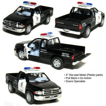 "5"" Kinsmart Dodge Ram 1500 POLICE Diecast Model Toy Pickup Truck 1:44"