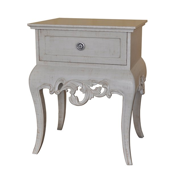 Cassidy End Table Soft White Finish 25 1/2 Inches Tall - Walmart