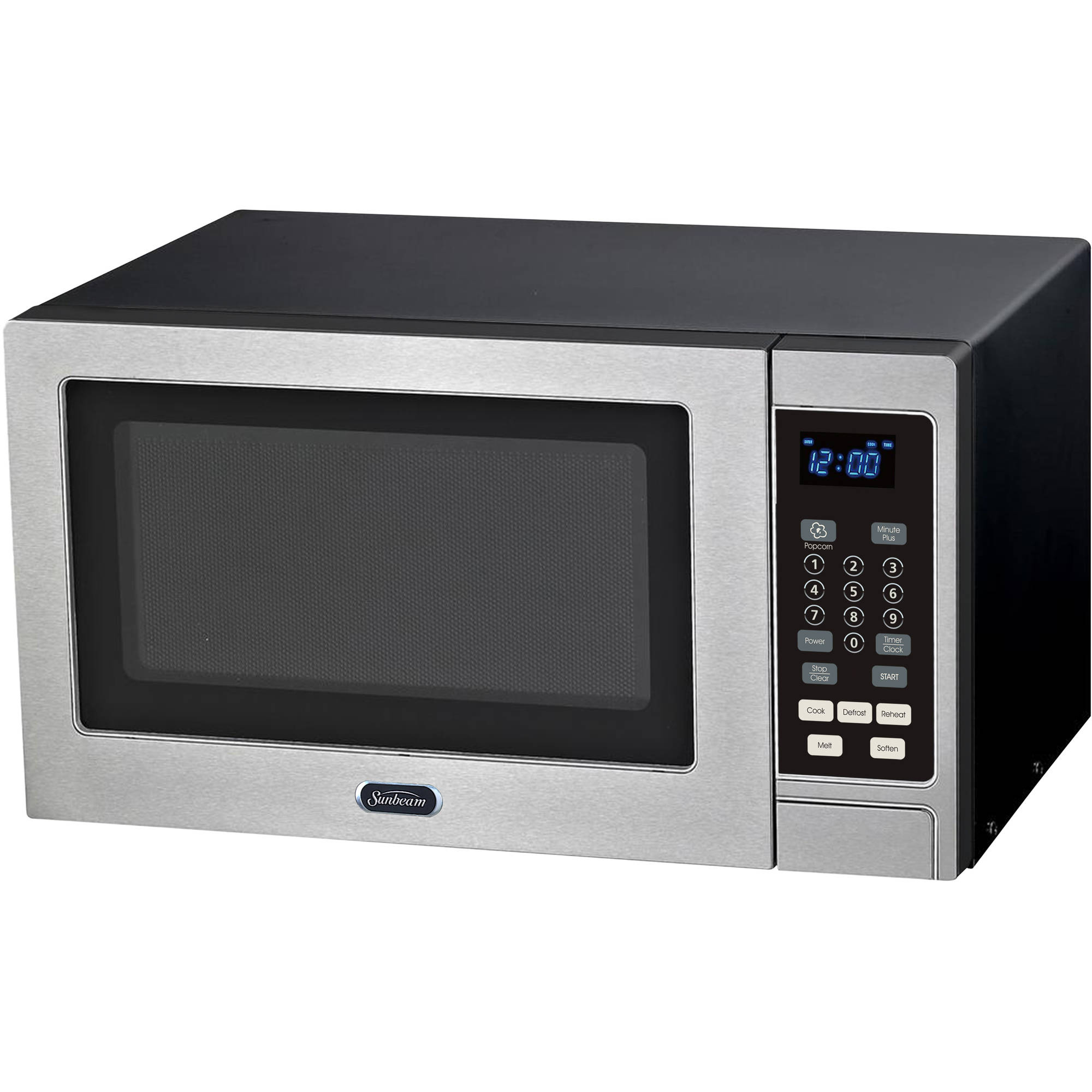 This Sunbeam compact countertop microwave oven is the perfect addition to your kitchen, entertainment space or dorm room. This unit includes 6 pre-set menus, including baked potato, beverage, popcorn, pizza, frozen dinner and reheat.