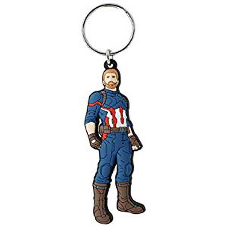 PVC Key Chain - Marvel - Captain America Soft Touch New 68857 (R32 Keychain)
