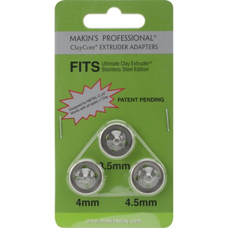 Makin's The Ultimate Clay Extruder Clay Core Adapters, 3.5mm, 4mm, 5mm