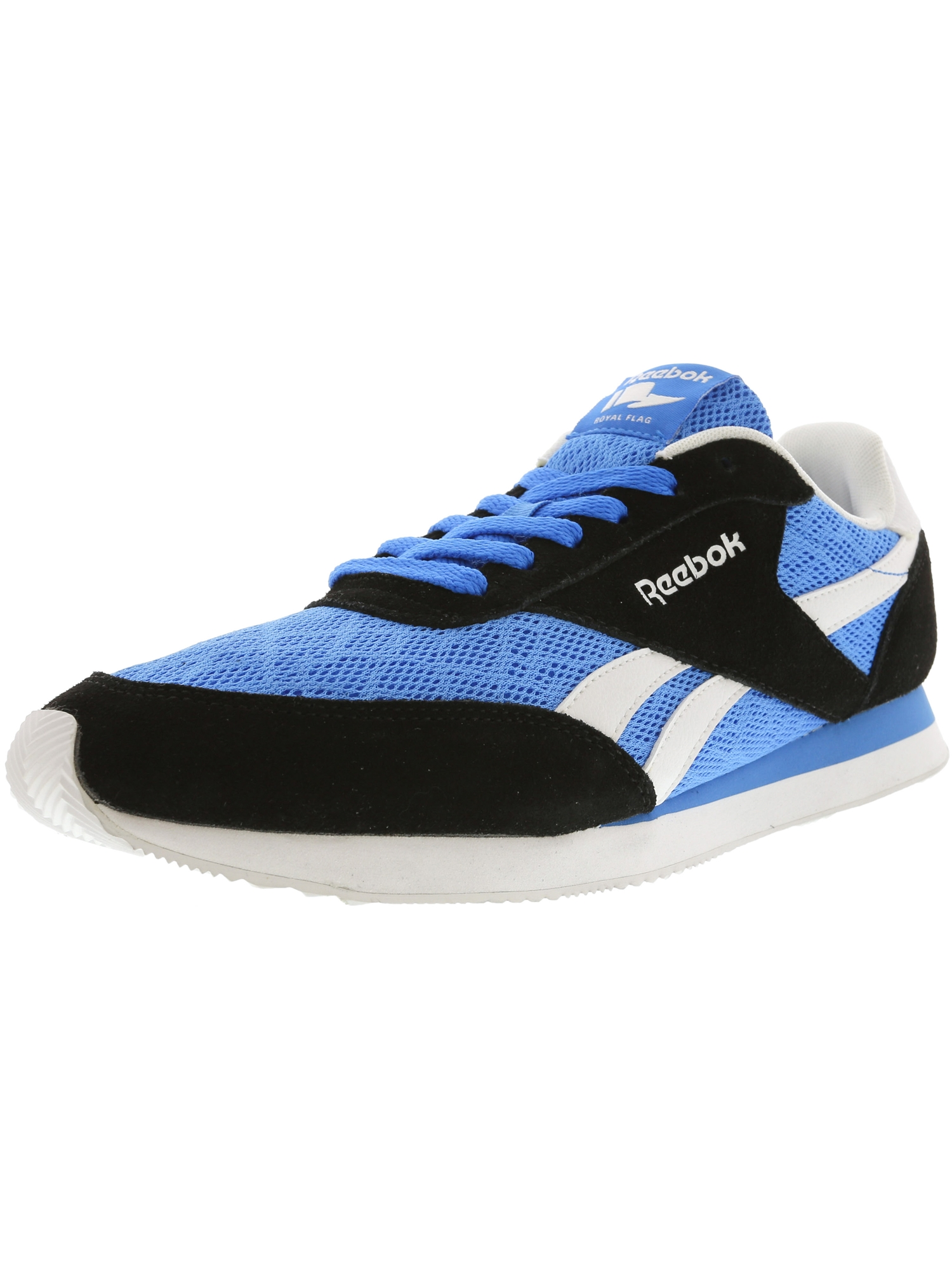 Reebok Men's Royal Cl Jog 2Tm Horizon Blue / Black White Ankle-High Running Shoe - 9M