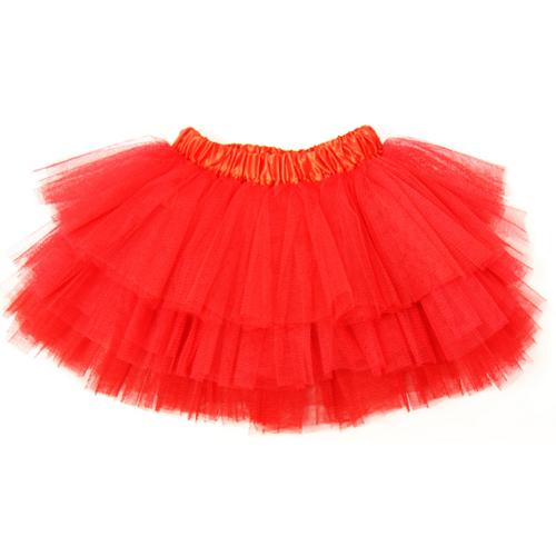 Dress Up Dreams Boutique Little Girls Red Satin Elastic Waist Triple Layer Ballet Tutu Skirt 2 - 8Y