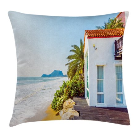 Ocean Throw Pillow Cushion Cover Coastal Charm Themed Beach House Best Beach Themed Pillows Decorative