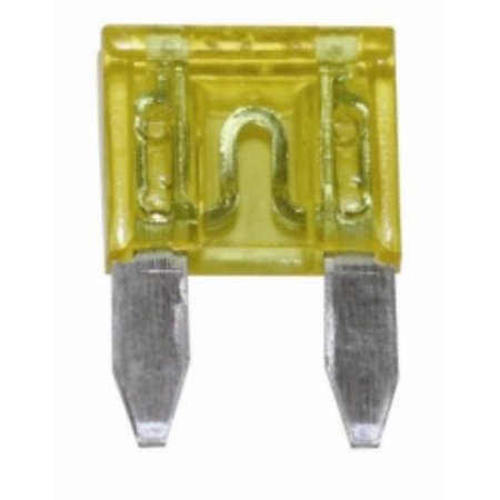 The Best Connection 20307F 20 Amp Yellow Mini Fuse 2