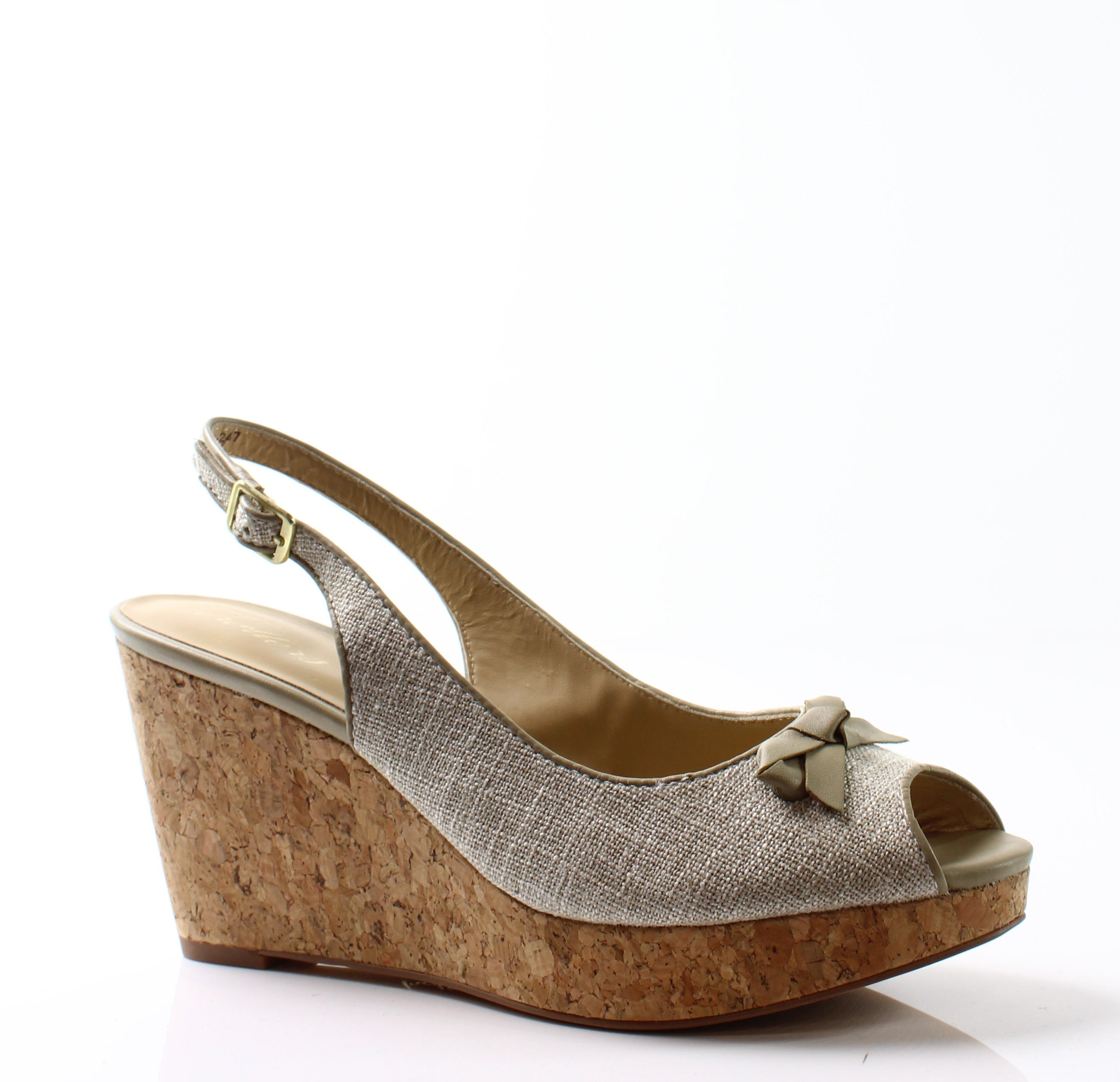 Trotters New Beige Allie Shoes Size 8.5N Slingbacks Sandals by Trotters