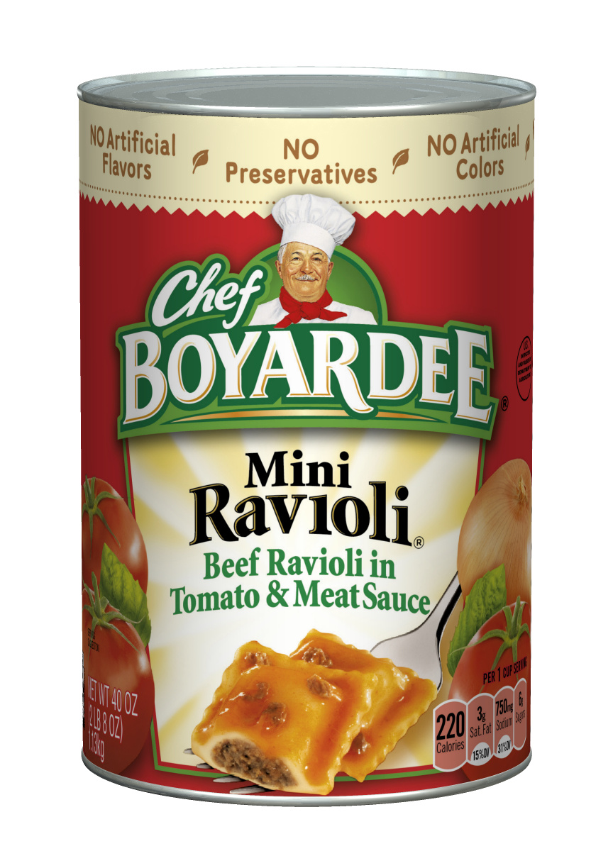 Chef Boyardee Mini Beef Ravioli, 40 Oz. by ConAgra Foods Inc.