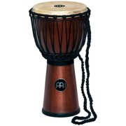 Meinl Percussion DJWR3ABM Rope Tune Wood Djembe, African Brown Finish