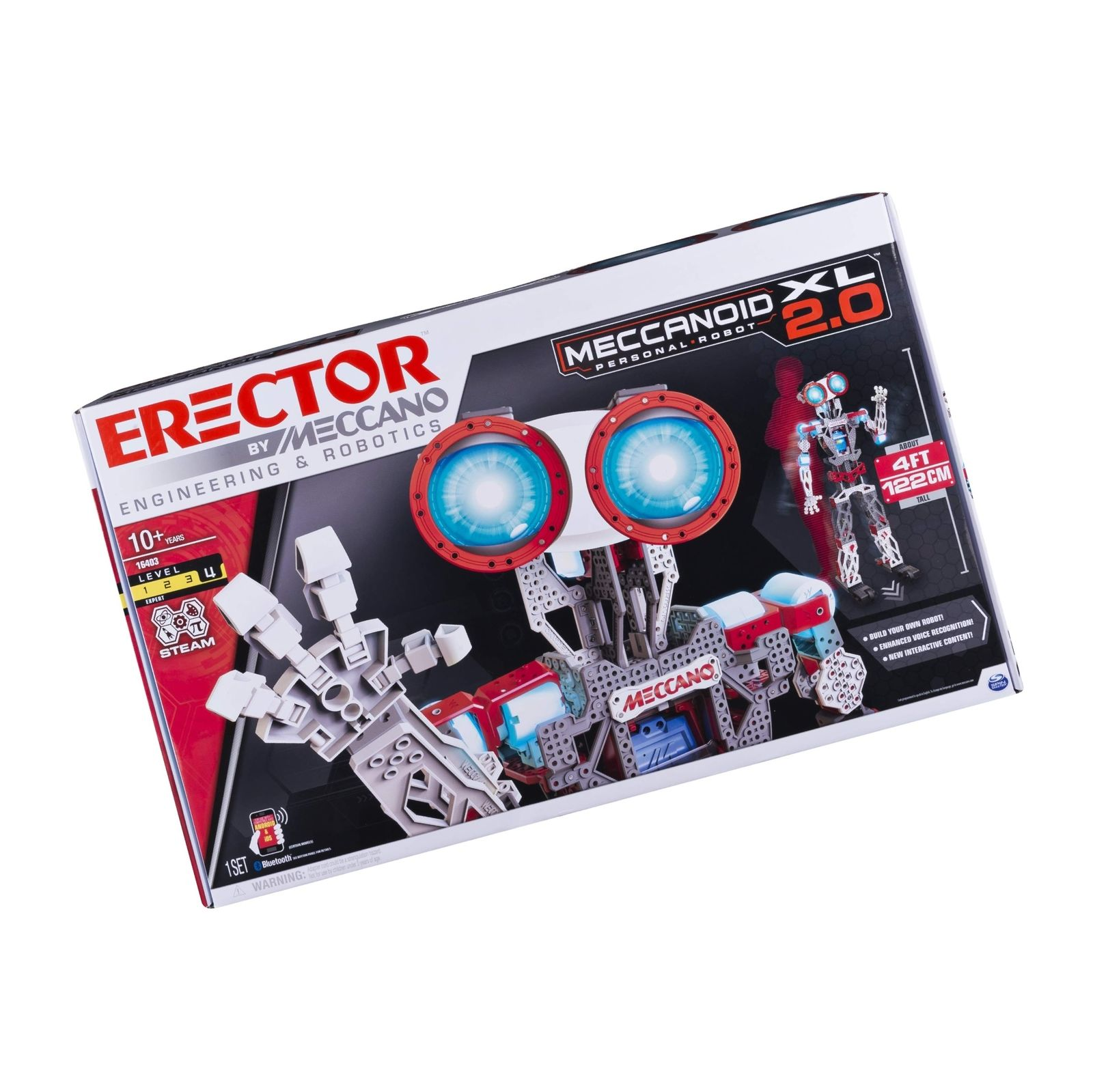 Erector by Meccano Meccanoid XL 2.0 Robot-Building Kit, STEM Education Toy fo...