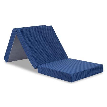 Granrest 4 Tri Folding Memory Foam Mattress Walmart Com