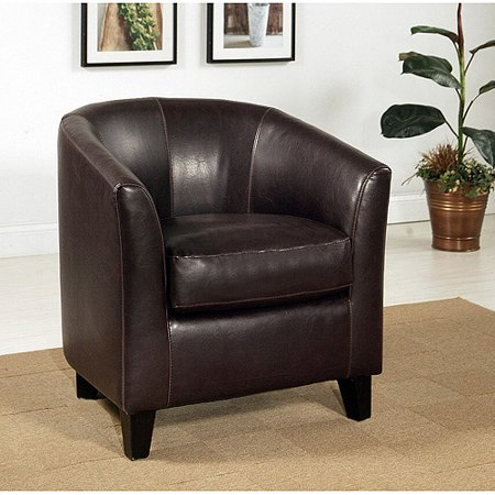 cambridge faux leather club chair brown. Black Bedroom Furniture Sets. Home Design Ideas