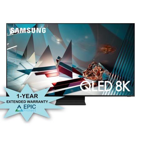 """Samsung QN65Q800TA 65"""" QLED 8K Quantum Ultra High Definition Smart TV with a 1 Year Extended Warranty (2020)"""