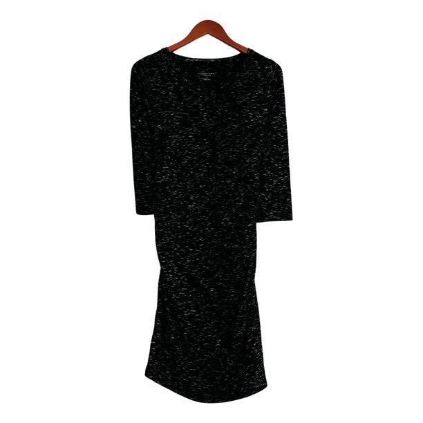 Liz Lange Liz Lange Maternity Dress Sz Xs Stretch Knit Printed Long Sleeve Black Walmart Com Walmart Com