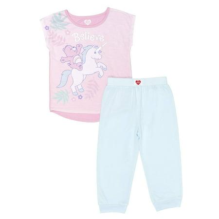 Girls' Care Bears Girl's Believe 2 Piece Pajama Sleep Set (Little Girl & Big (Care Bears Pajamas)