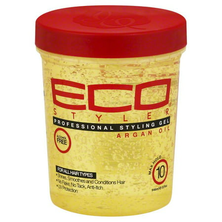 Eco Styler Max Hold 10 Argan Oil Professional Styling Gel, 32 fl oz (Enhancing Styler)